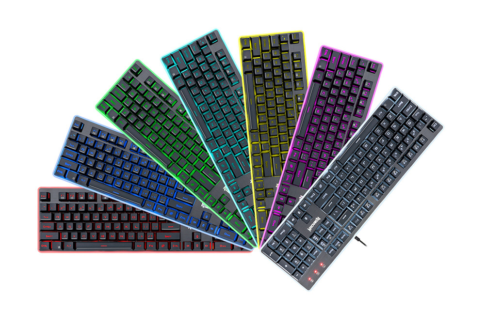 Redragon K509 USB Wired Membrane Keyboard with Colorful Backlight
