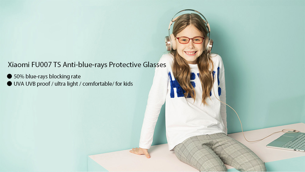 Xiaomi FU007 TS Anti-blue-rays Portable Protective Glasses Eyewear for Kids Children