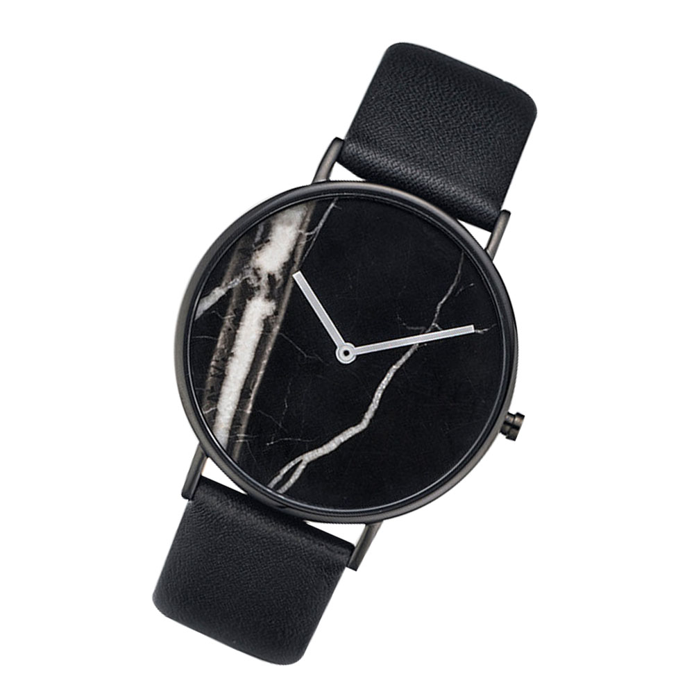 Large Supply of Men'S Leather Belt Watch Marble Gift Watch