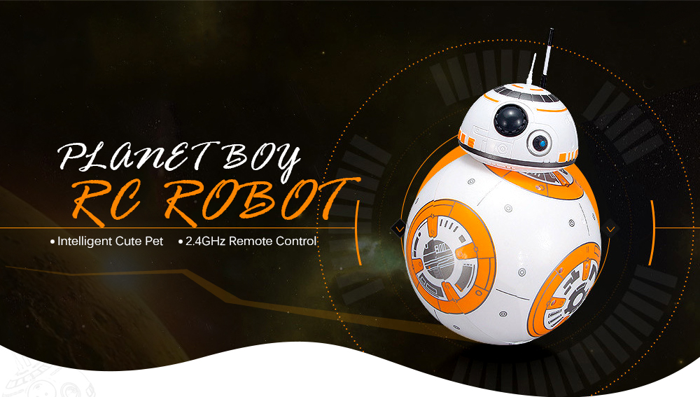 Planet Boy Omnidirectional Smart Robot Ball- White