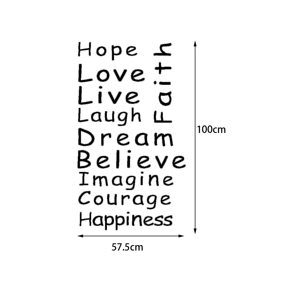 Love Faith Hope Quotes Quote Wall Sticker Faith Hope Love Staircase Decorative Decal