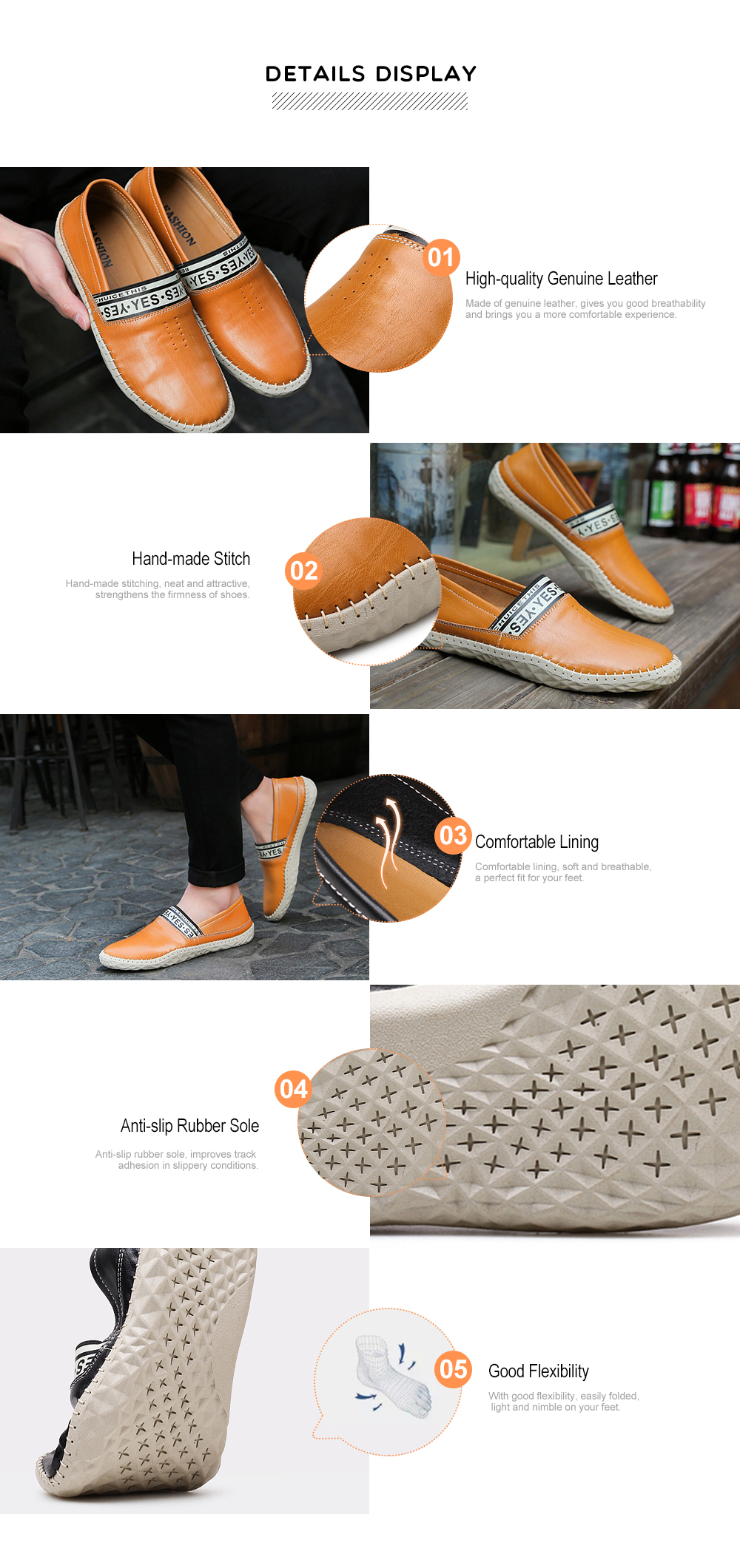 Men Handcrafted Genuine Leather Slip-on Shoes