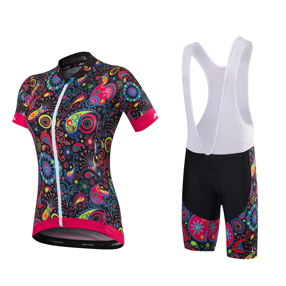 Malciklo 2018 New Product Summer Cycling Jersey Bib Tights Woman Short Bike  Compression Suits Quick Dry 79bd2d9f6