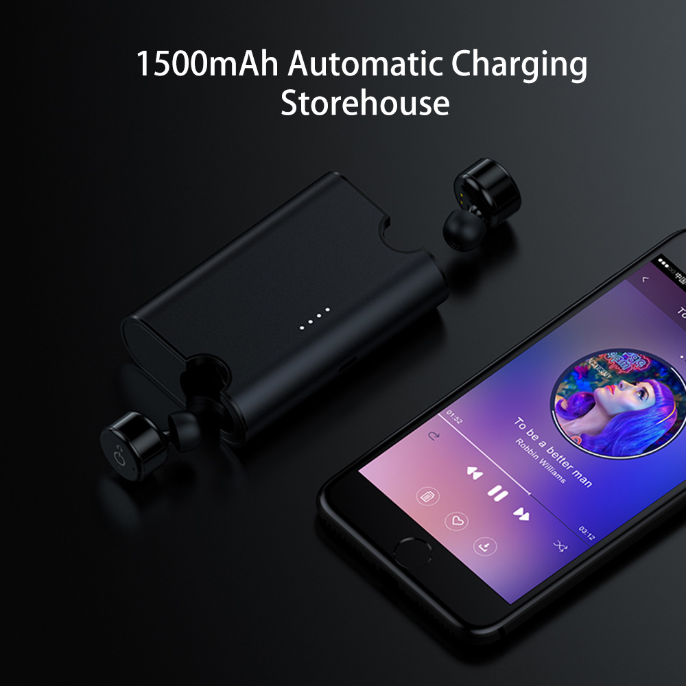 4636f420487 True Wireless Earbuds Twins X2T Mini Bluetooth CSR4.2 Earphone Stereo with Magnetic  Charger Box