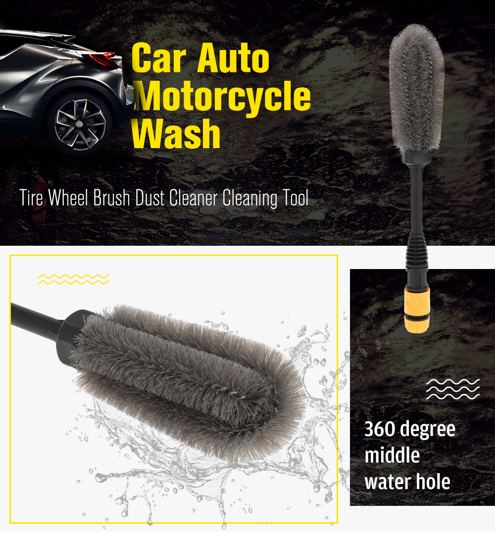 Car Auto Motorcycle Wash Tire Wheel Brush Dust Cleaner Cleaning Tool