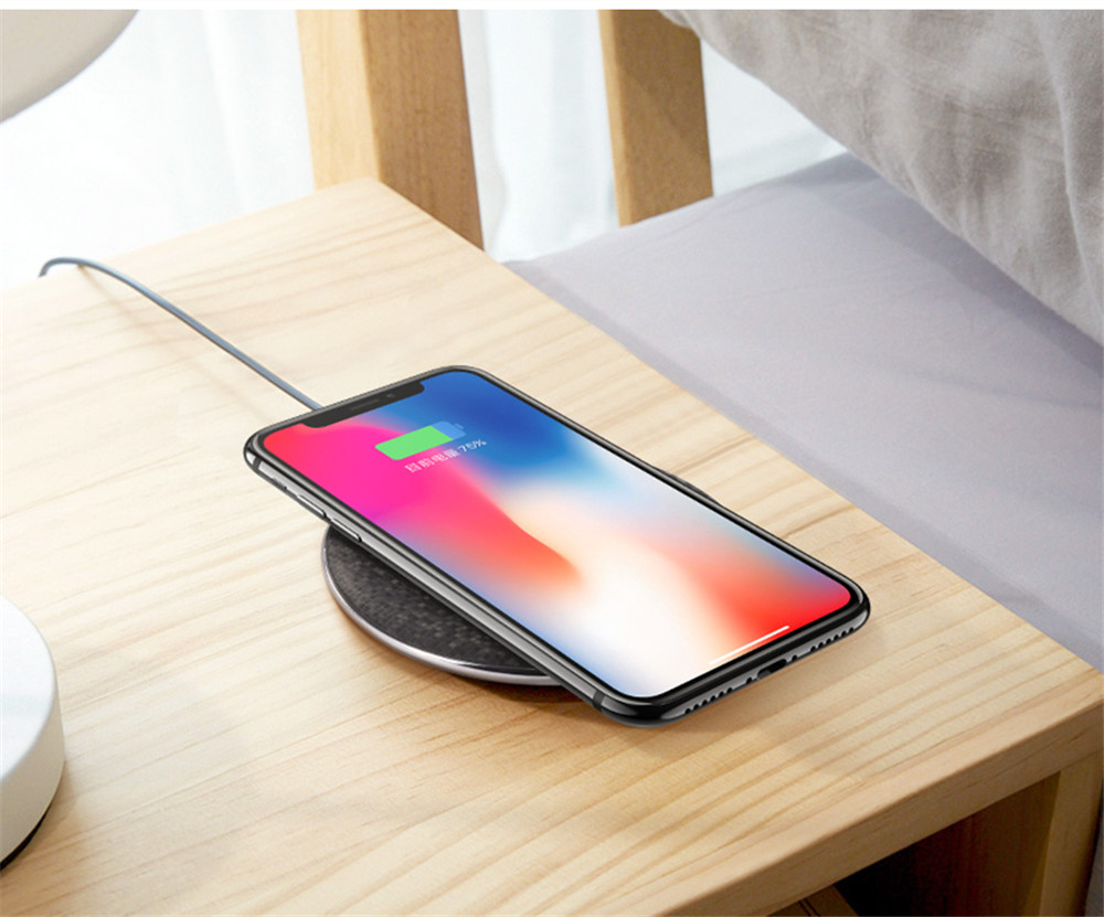 Qi Wireless Charger 5v1a Desktop Fast Charging Pad For Samsung Original S8 Plus Iphone X 8