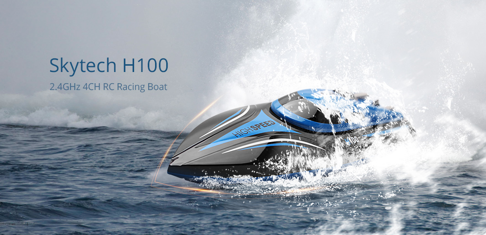 Skytech H100 RC Racing Boat Blue and Black