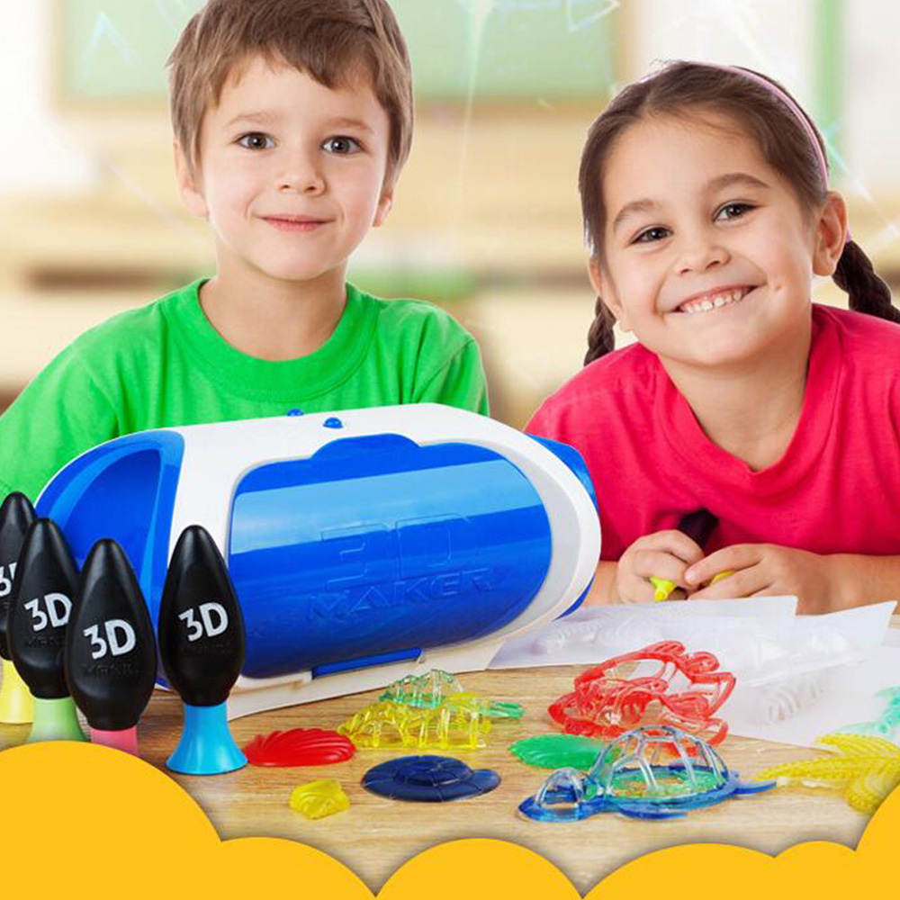 Puzzle 3D Maker DIY Hand-made Printing Toy for Kids