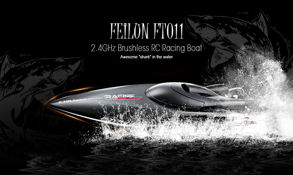 FeiLun FT011 2.4G RC Racing Boat Brushless Motor 55km/h Built-in Water Cooling System