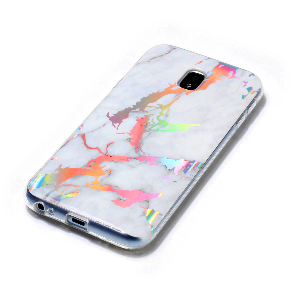 Fashion Color Plated Marble Phone Case For Samsung Galaxy J3 J330 Case Cover European version Soft TPU Phone Bag