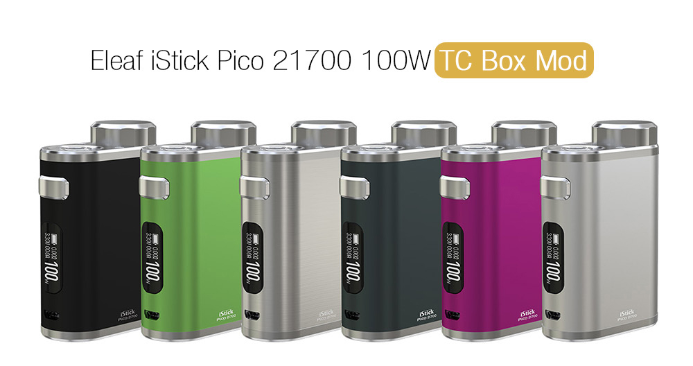 Eleaf iStick Pico 21700 100W TC Box MOD 6 Colors Availabel