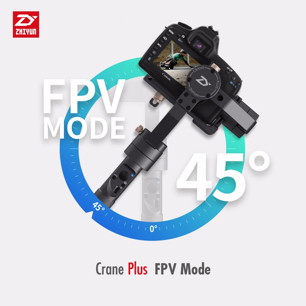 Zhiyun Crane Plus 3-axis Handheld Gimbal Stabilizer for Action Camera with Waterproof Housing