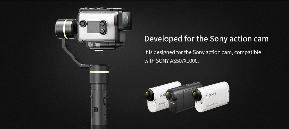 FY FEIYUTECH G5GS 3-axis Handheld Gimbal Stabilizer for Sony Action Camera