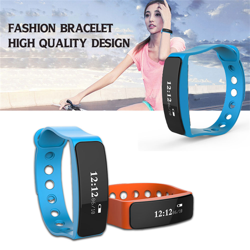 Bluetooth V5 Sleep Sports Tracker Waterproof Remote Wristband Smart Wrist Bracelet Band Pedometer for IOS Android