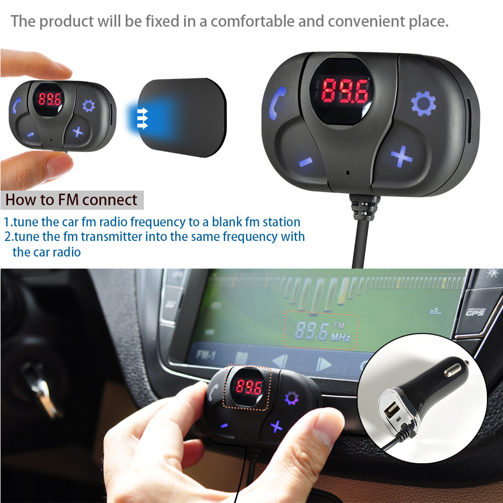 Car Charger FM MP3 Player to Play Bluetooth Hands-free Telephone