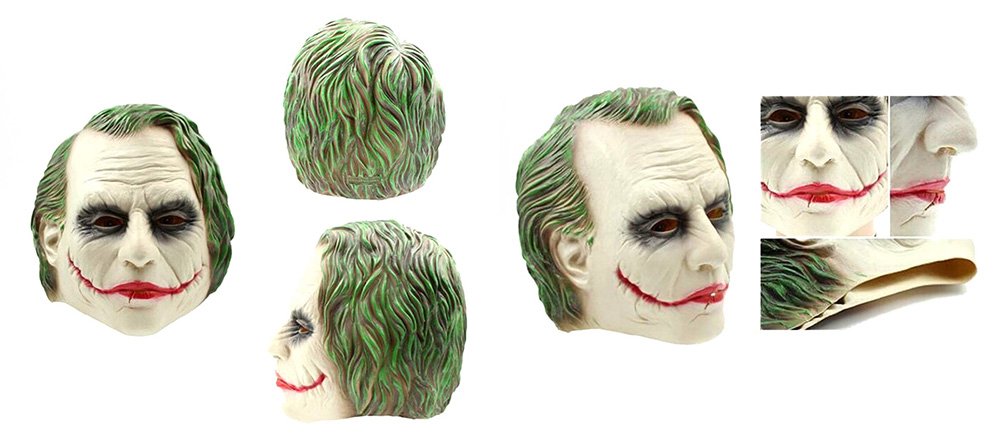 Novelty Wounded Mouth Clown Headdress Mask