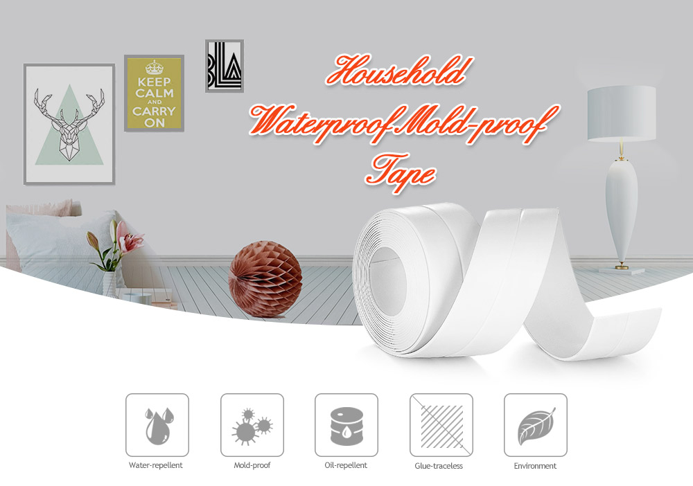 HESSION Kitchen Bathroom Waterproof Mold-proof Tape 2PCS