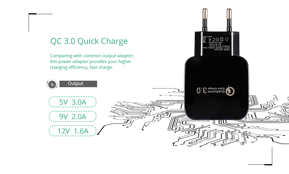 QC 3.0 Travel Power Adapter Mobile Phone Charger Quick Charge
