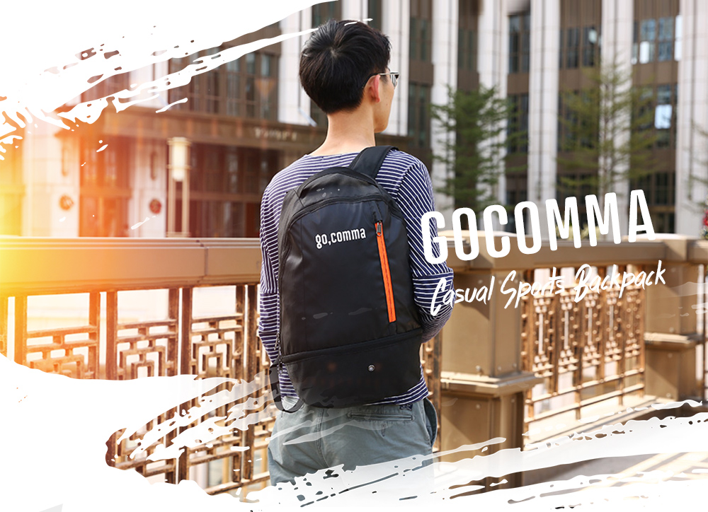 gocomma Waterproof Backpack with Bottom Shoes Pack Bag