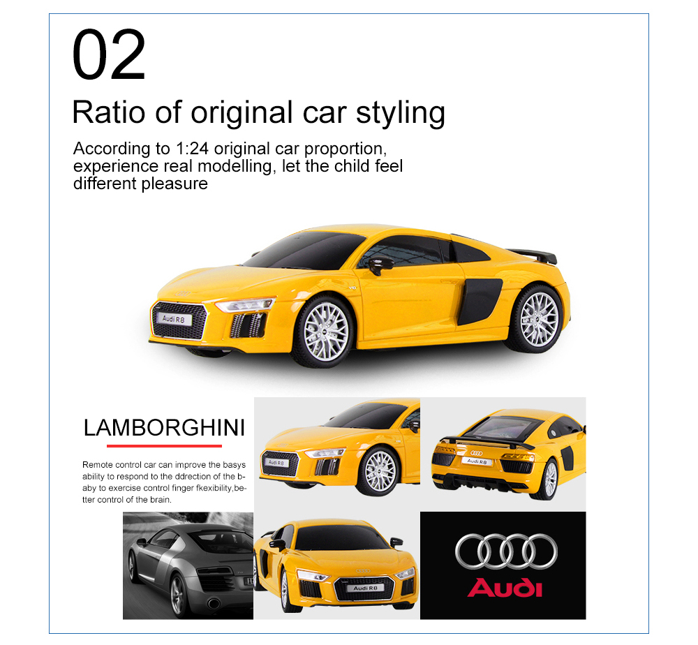 Attop Audi Remote Control Car Free Shipping - Audi remote control car