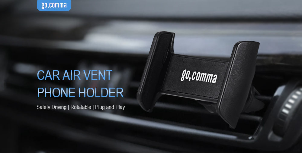 Gocomma Car Phone Holder Air Vent Mobile Navigation Bracket 360 Degree Rotation