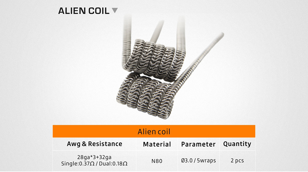 Geekvape 6-in-1 Coil Pack for E Cigarette