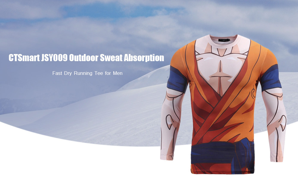 CTSmart JSY009 Outdoor Sweat Absorption Fast Dry Running Tee for Men