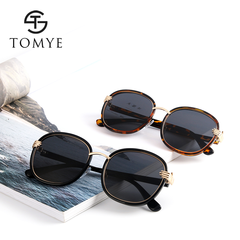 TOMYE 55908 Fashion Round Frame Unisex Polarized Sunglasses