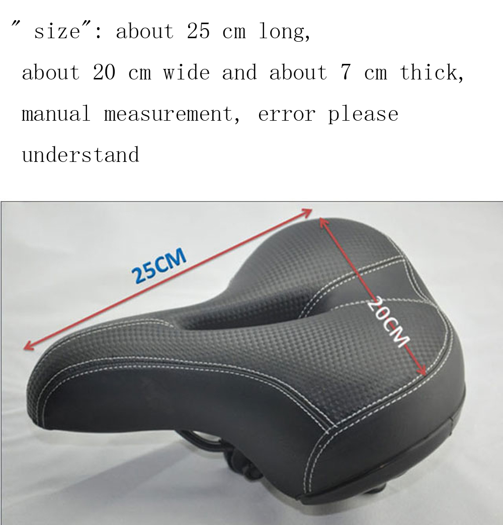 Bike Thickened Sponge Comfortable Saddle Bicycle Parts Riding Equipment
