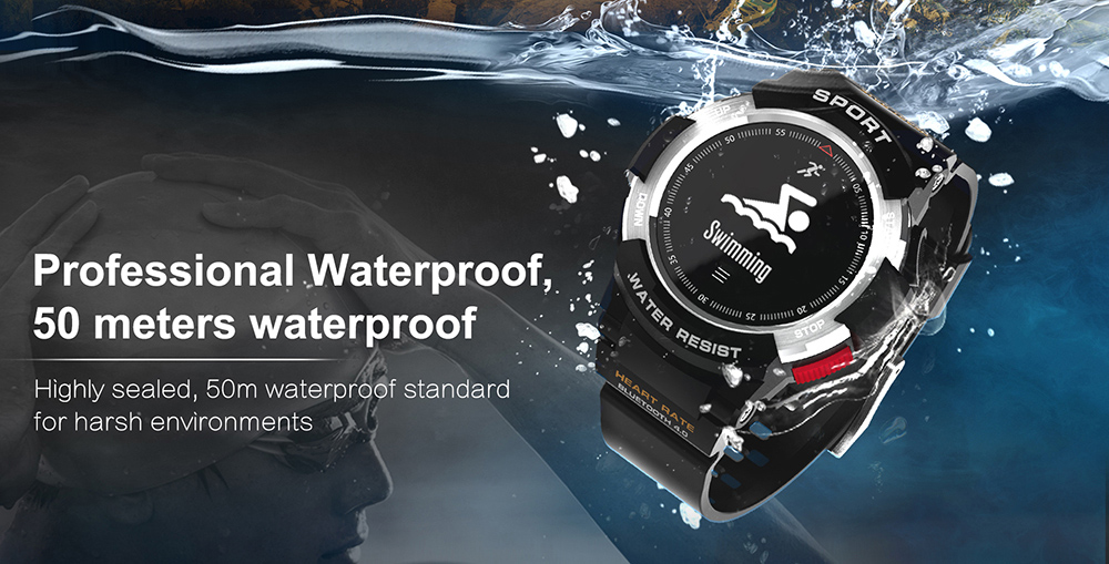 NO.1 F6 Smartwatch NRF51822 Chip IP68 Waterproof Sleep Monitor Remote Camera