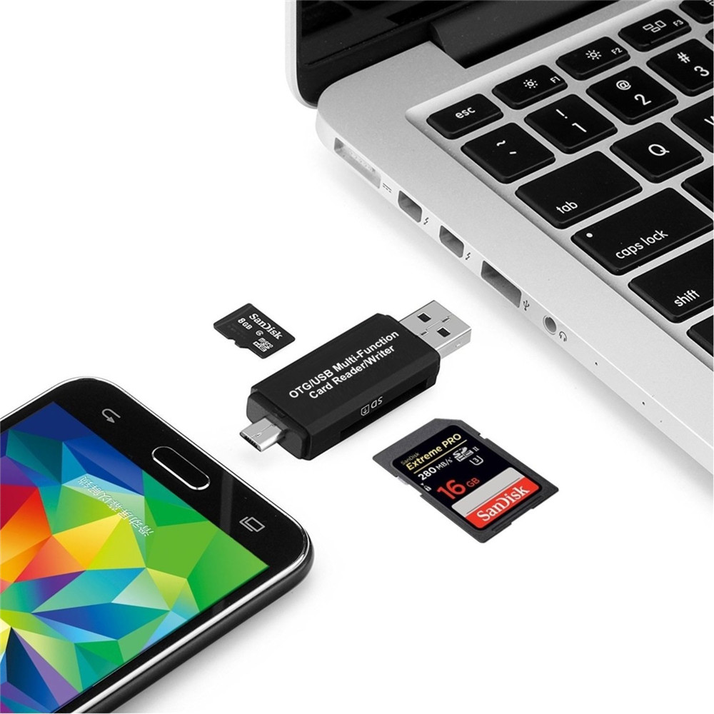 Sd Micro Card Reader Usb Otg Adapter And 20 Portable Smart Connection Kit Sdhc Memory