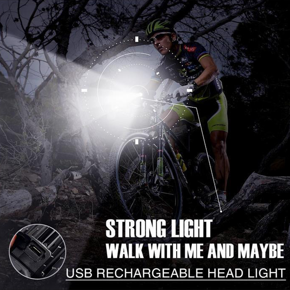 Cycling Light 4 Model LED 200 Lumen USB Rechargeable Safety Flashlight Lamp Lights Waterproof Taillight Bicycle Accessor