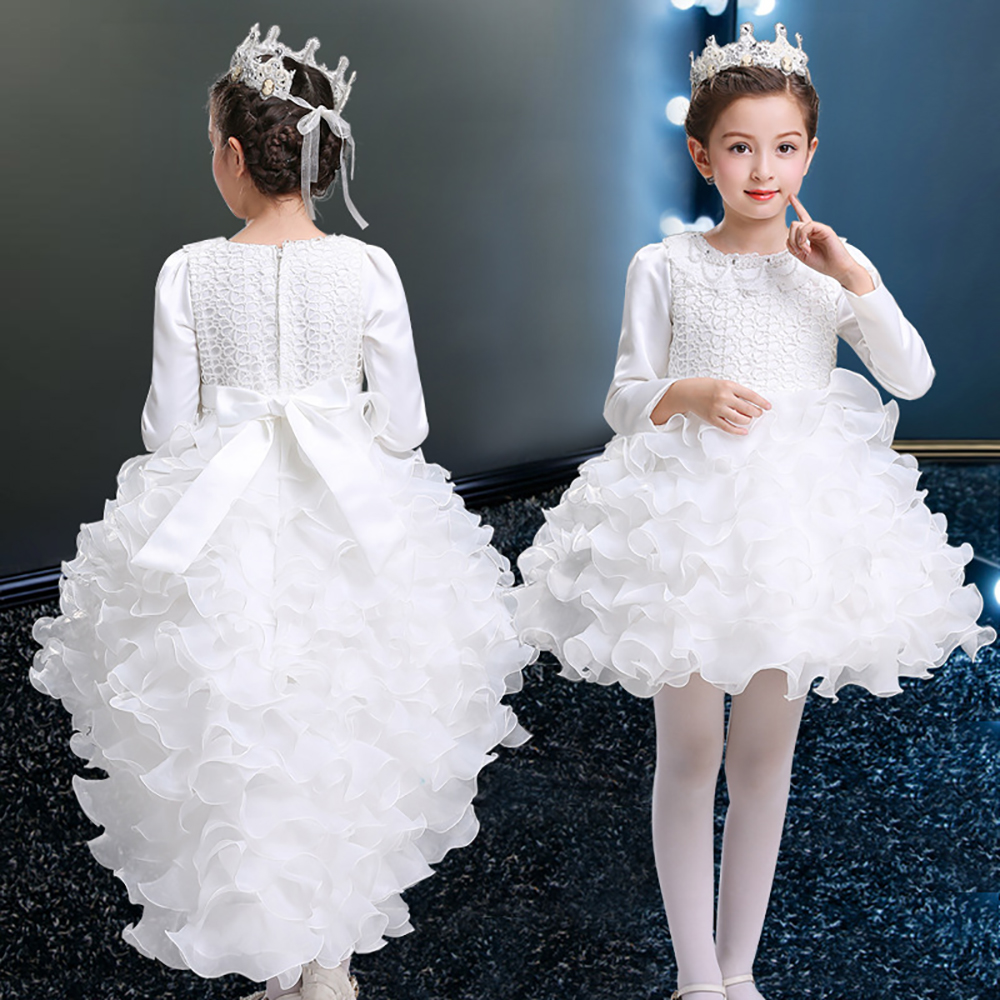 Autumn and Winter Long-Sleeved Princess Costume Dress Skirt Flower Child