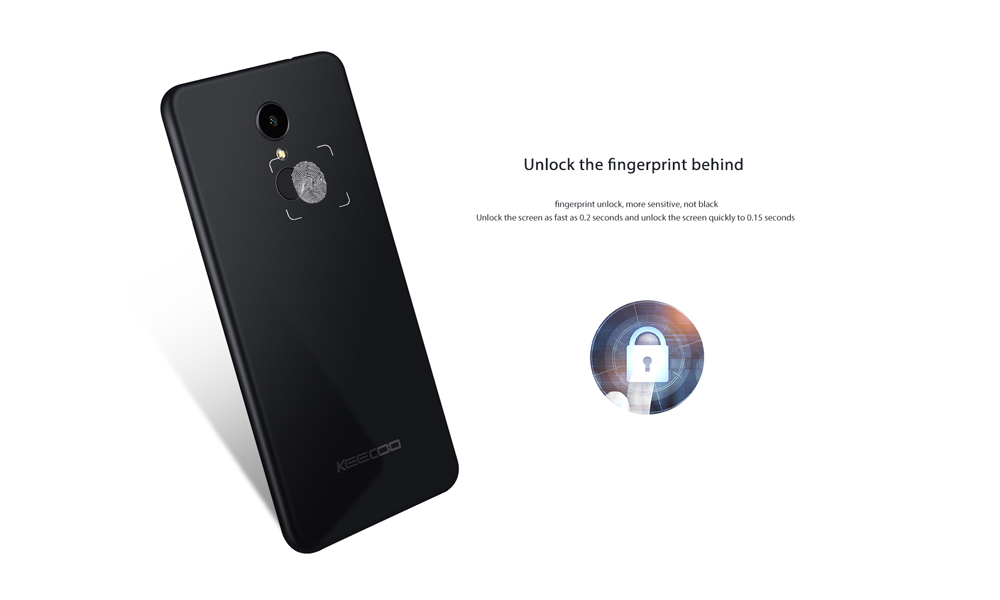 KEECOO P11 4G Phablet 5.7 inch Android 7.0 MTK6737 Quad Core 1.3GHz 2GB RAM 16GB ROM 5.0MP + 8.0MP Dual Cameras Face Recognition Fingerprint Scanner