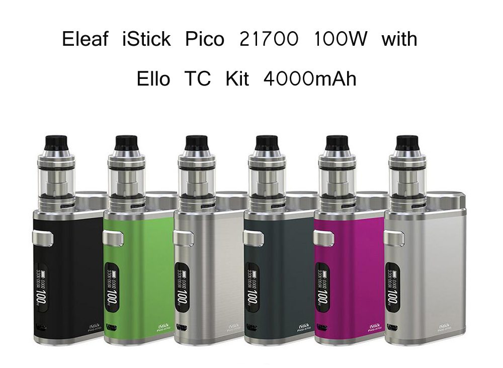 Eleaf iStick Pico 21700 100W with Ello TC Kit 4000mAh 6 Colors Available