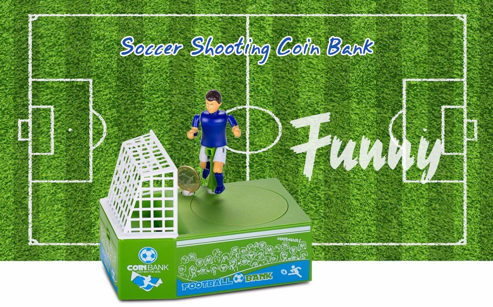 Creative Football Piggy Bank Ornament Gift Toy- Colormix