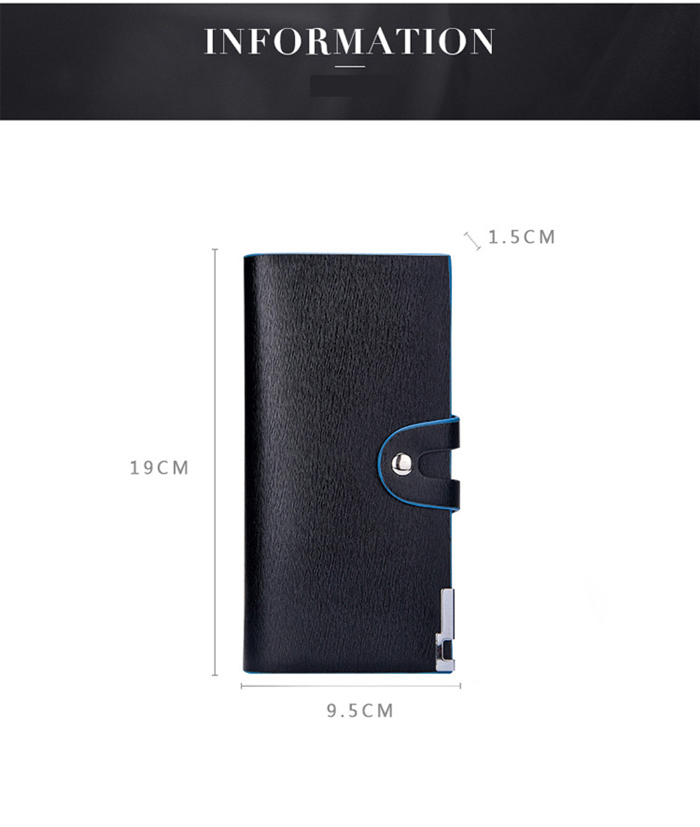 Wallet Men 's Long Cell Phone Bag Multifunction Button Hand  Card Package Doka Bit Ticket Holder