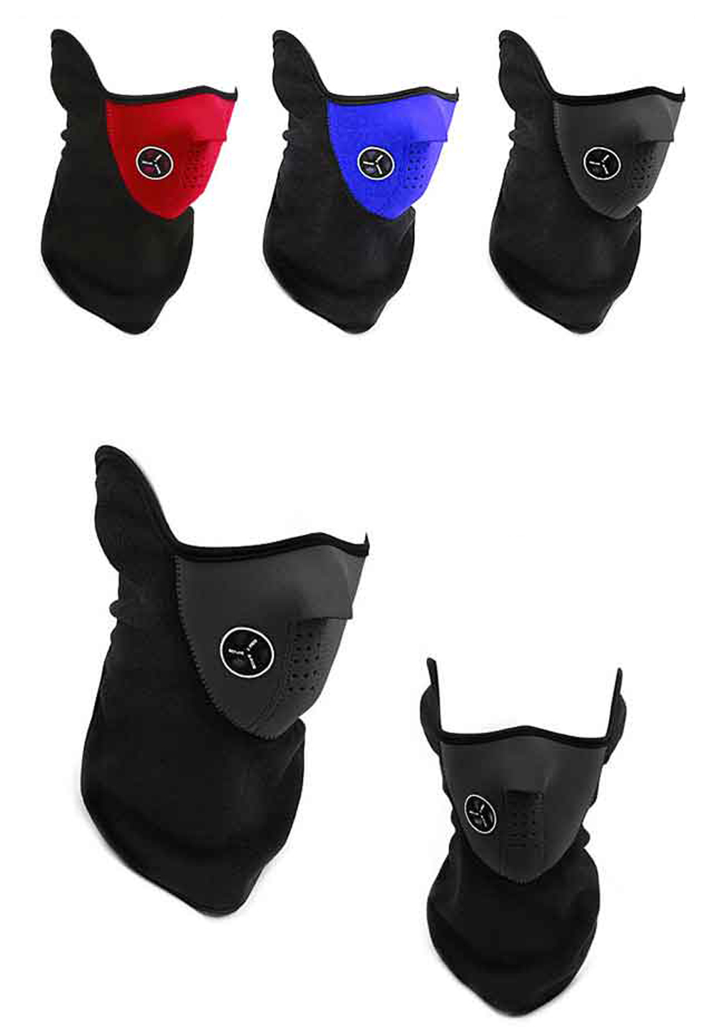 Bicycle Face Mask Head Scarf Hat Winter Wind-Proof Warm Electric Motorcycle Riding Masks