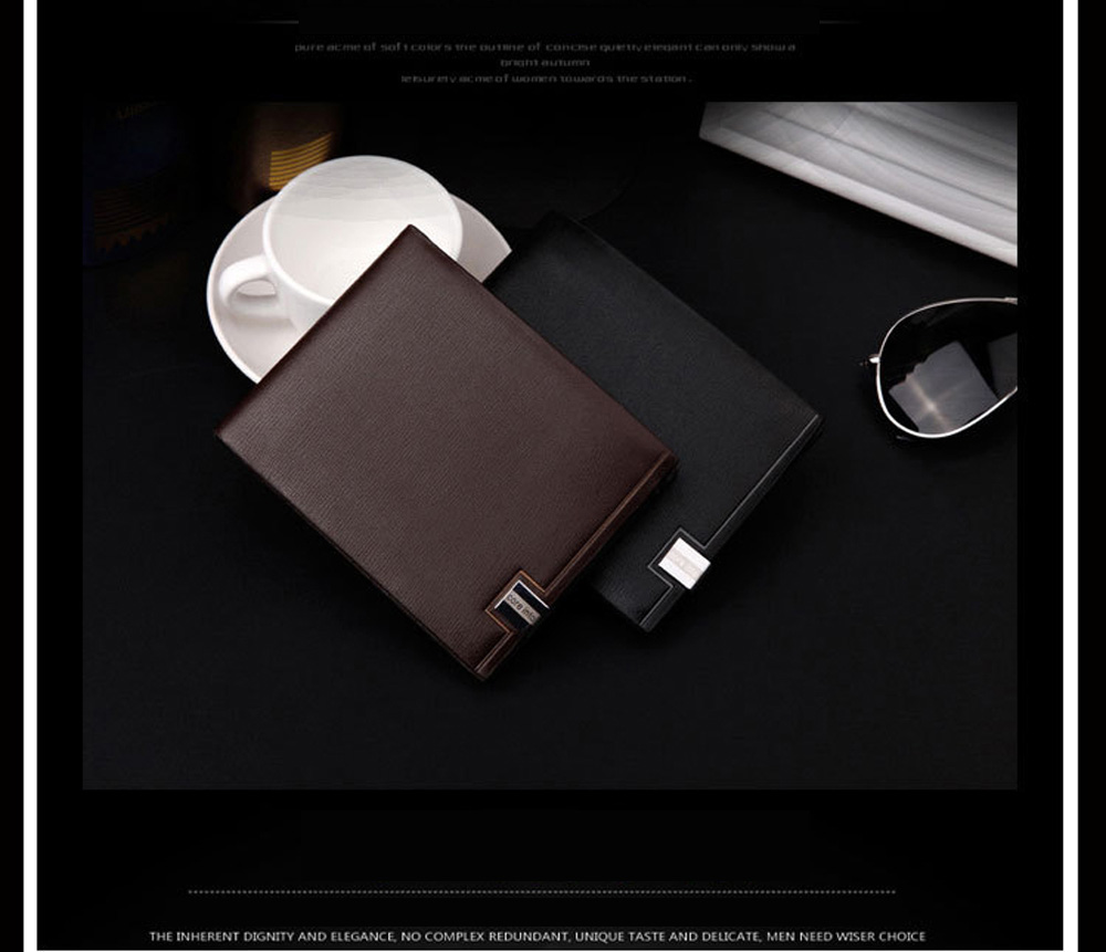 Hengsheng Men's Short Cross-Section Wallet Japan and South Korea Students trendy Fashion