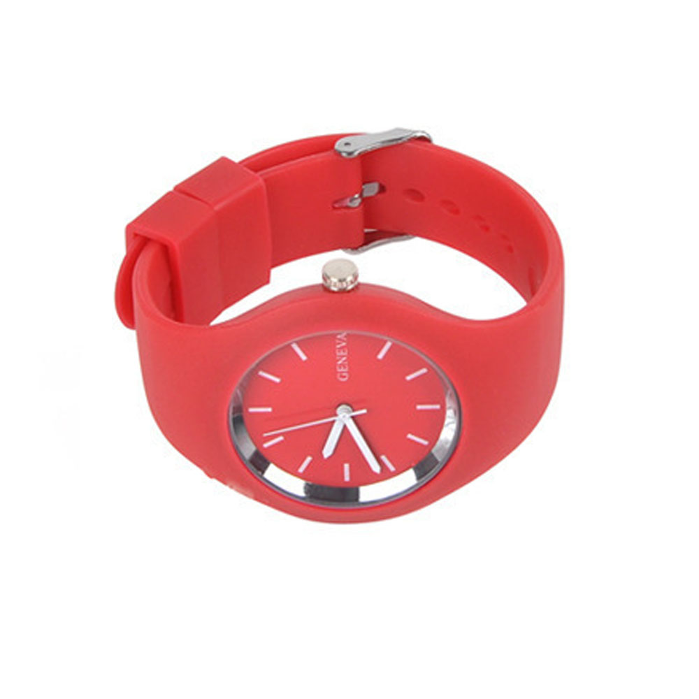 Stylish Simple Silicone Band Women Watch