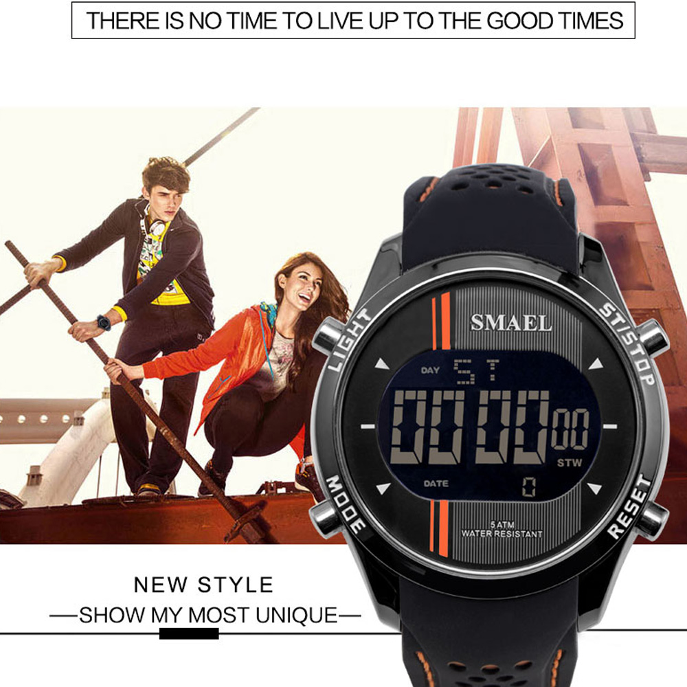 SMAEL 1283 Multi-function Waterproof Electronic Sport Watch