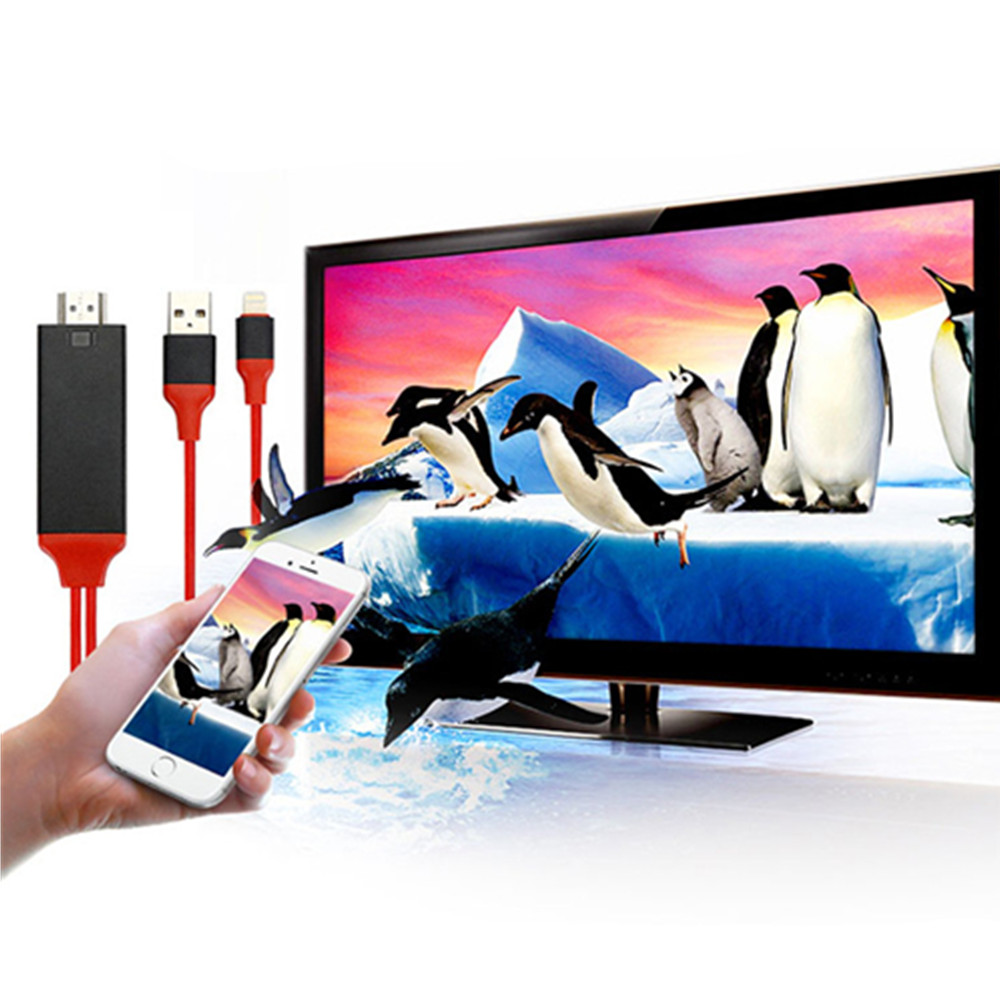 Hdmi Cable 1080P and Hdtv Adapter For 8 Pin Compatibility With IOS 11