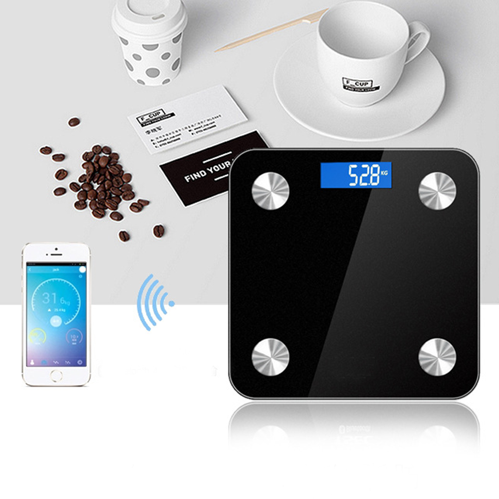Body Fat Smart Scale Bluetooth 4.0 Digital Scale LED Display- Black