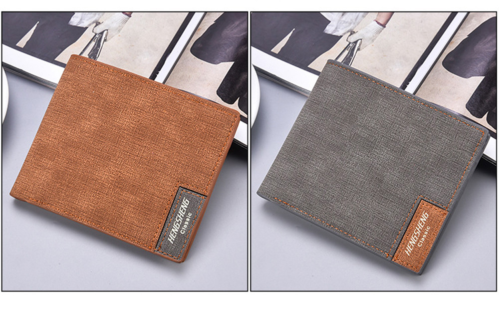 New Wallet Men's Short Casual Canvas Thin Business