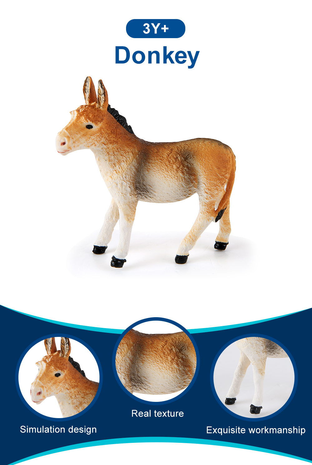 Donkey Model Animal Ornaments