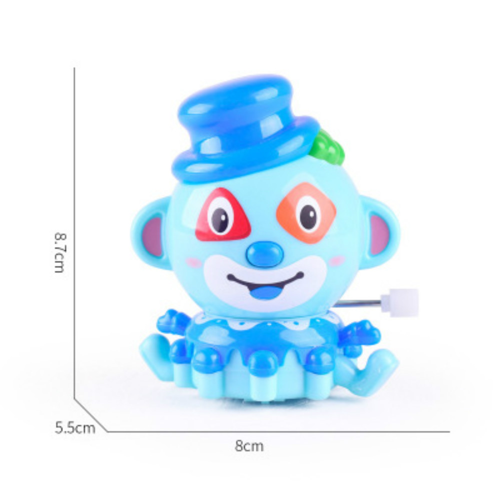 New Automatic Cartoon Mini Clown Clockwork Wind Up Toy for Children