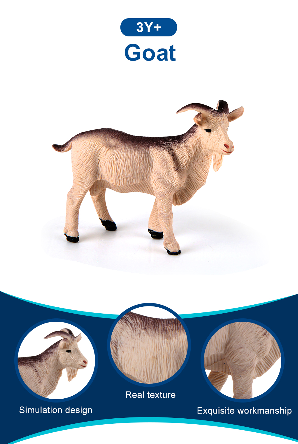 Goat Static Model Toy Ornament