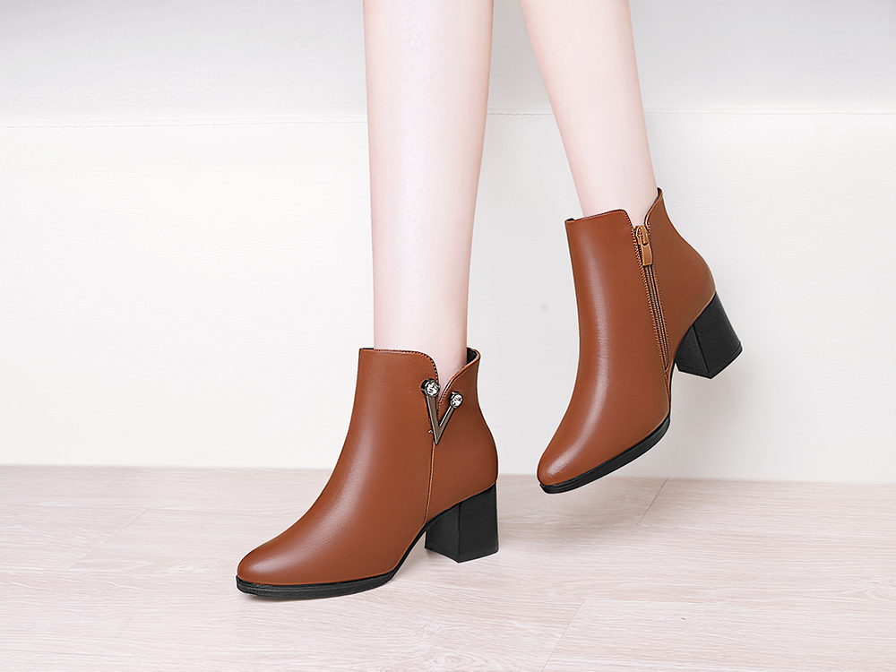 With A Velvet and Short Martin Boots
