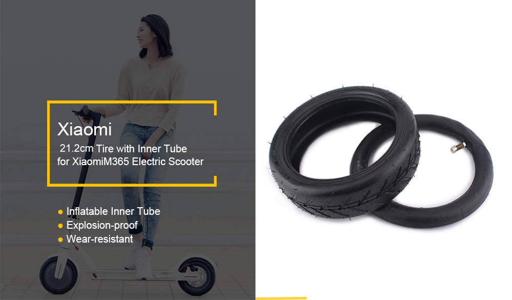 8.5 inch Solid Rear Tire for Xiaomi M365 Electric Scooter with Inner Tube