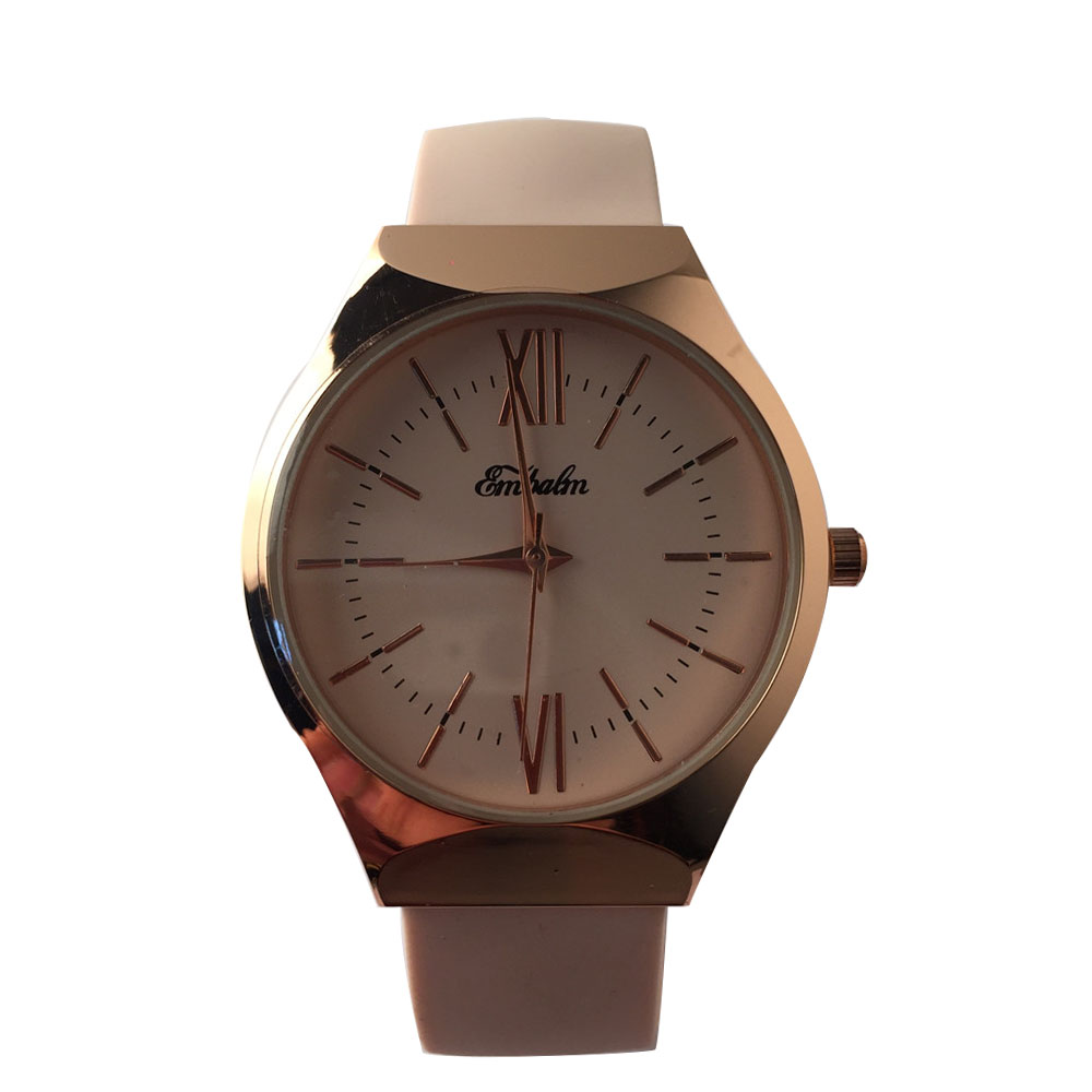 EMBALM 0001 New Ladies Round Silicone Watch